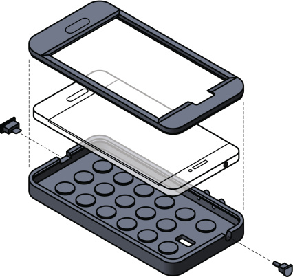 Illustration of a Mobile phone protection