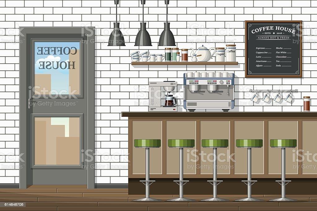 Ilustracin de illustration of a modern coffee shop y ms banco de illustration of a modern coffee shop ilustracin de illustration of a modern coffee shop y ms malvernweather Image collections