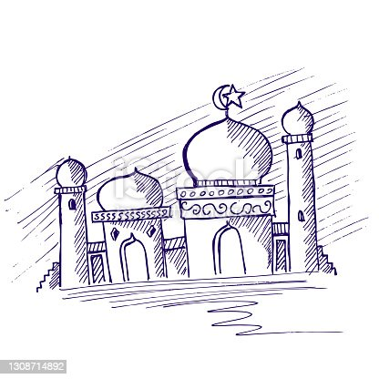 istock illustration of a mosque vector 1308714892