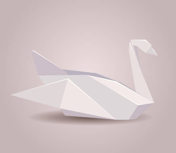 Royalty Free Origami Swan Clip Art Vector Images Illustrations