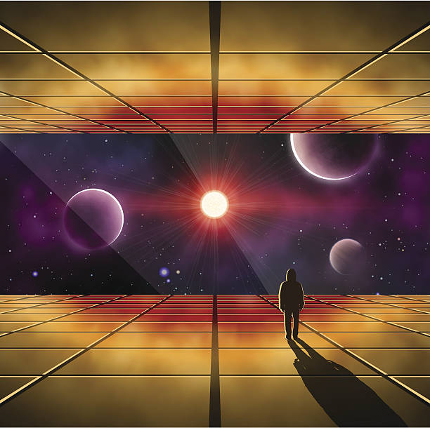 Infinity Mirror Illustrations, Royalty-Free Vector