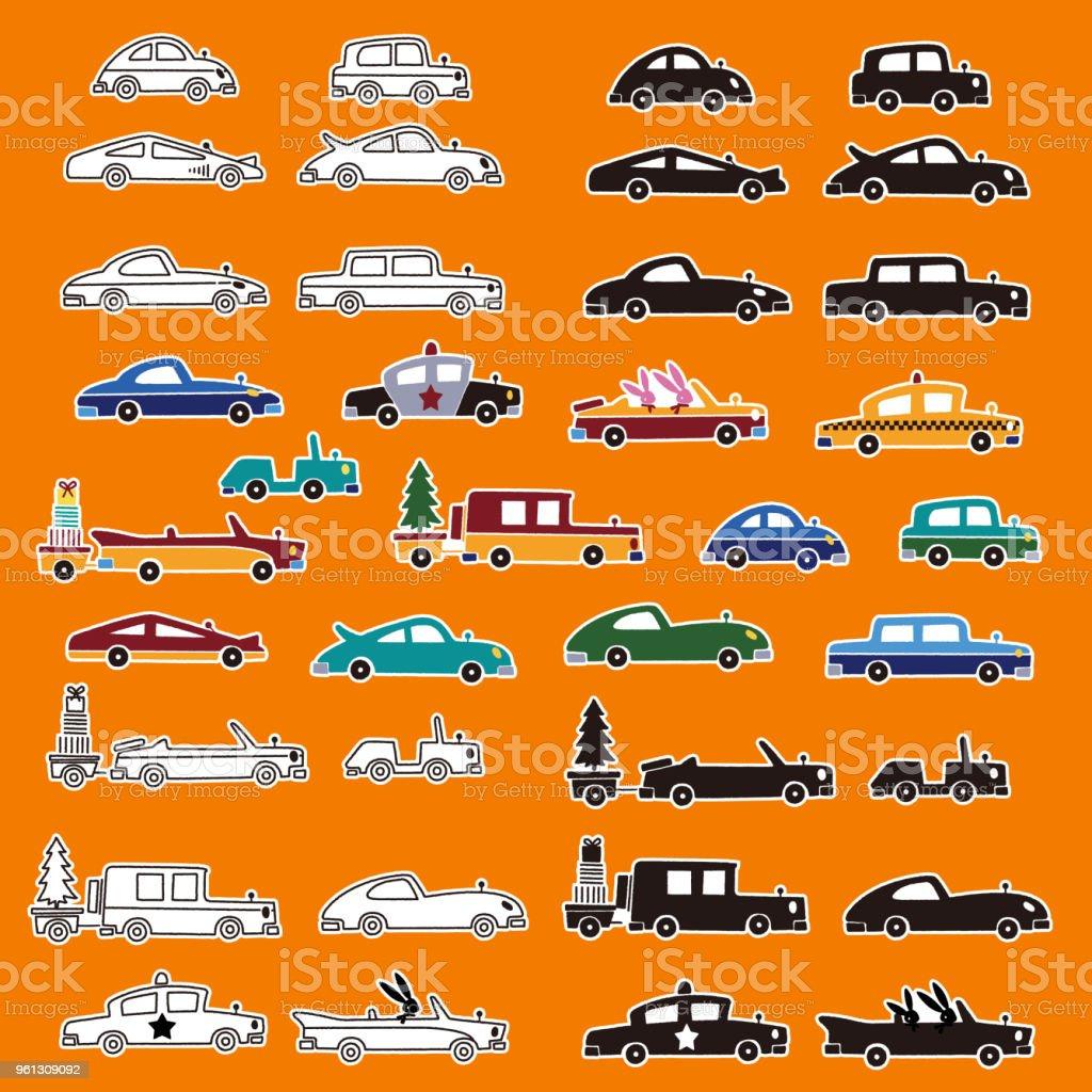 かわいい車のイラスト - おもちゃのベクターアート素材や画像を多数ご
