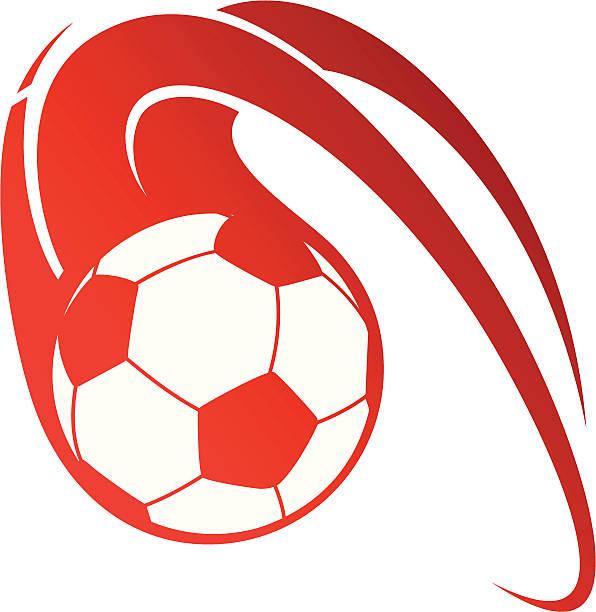 bildbanksillustrationer, clip art samt tecknat material och ikoner med illustration of a red flaming soccer ball on a white back - fotboll eld