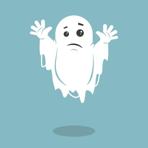 bildbanksillustrationer, clip art samt tecknat material och ikoner med illustration av ett tråkigt spöke - spöke
