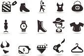 Professional vector icons series. Transparent PNG version included.  More fashionista-esque icons