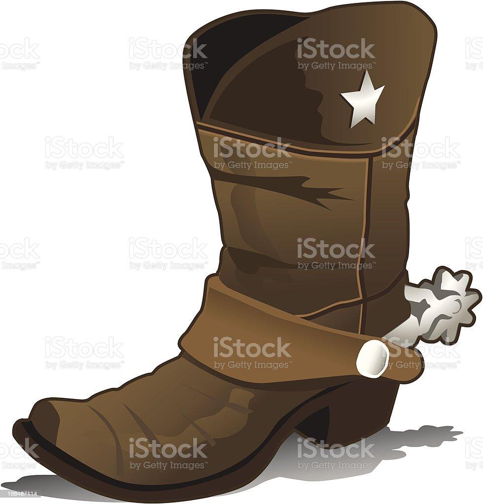 Illustration of a single cowboy boot royalty-free stock vector art