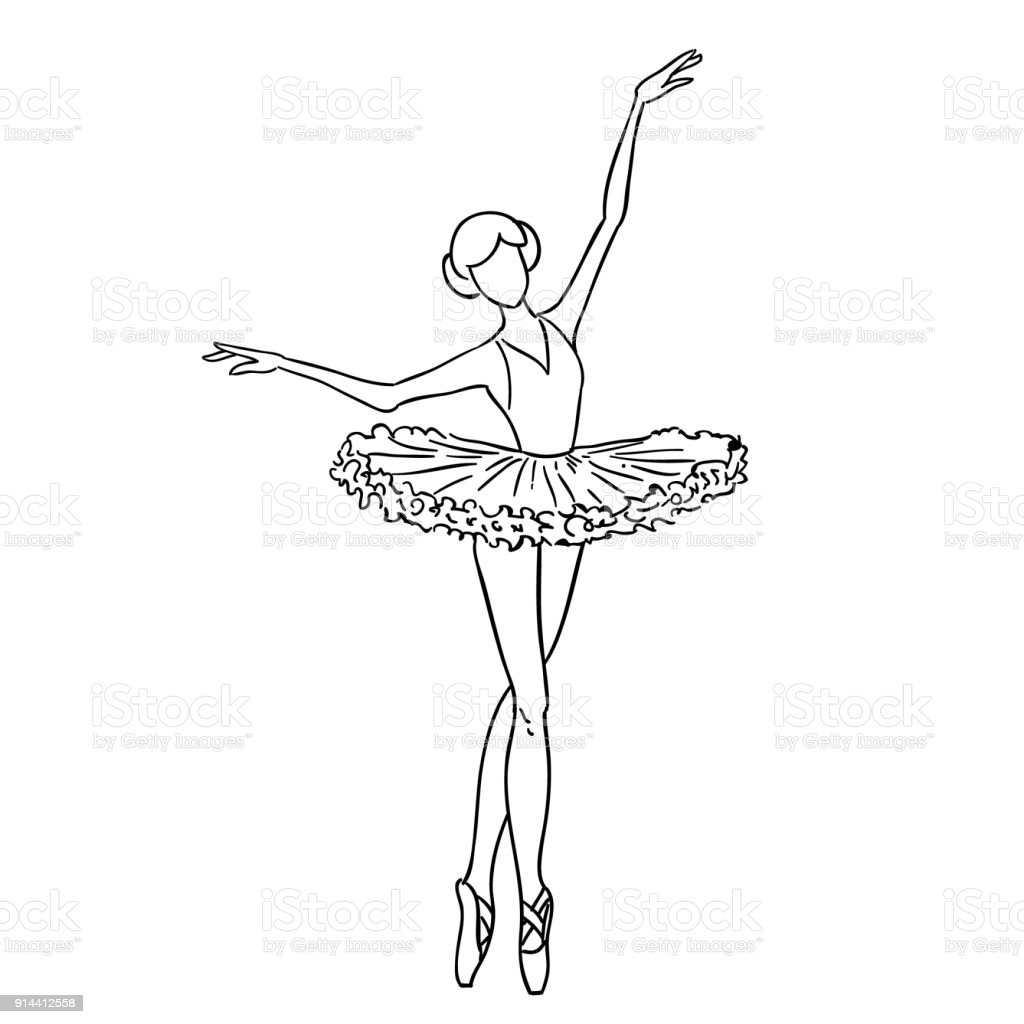 how to draw a dancer girl sketch