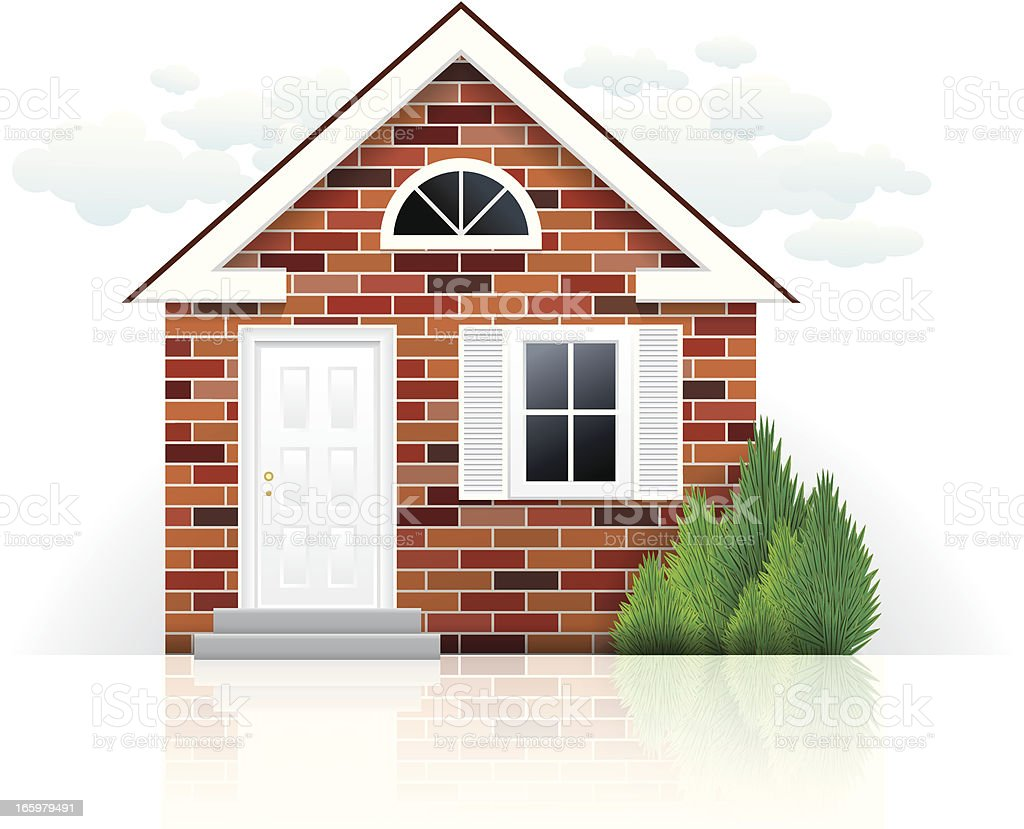 royalty free brick house clip art vector images illustrations rh istockphoto com  red brick house clipart
