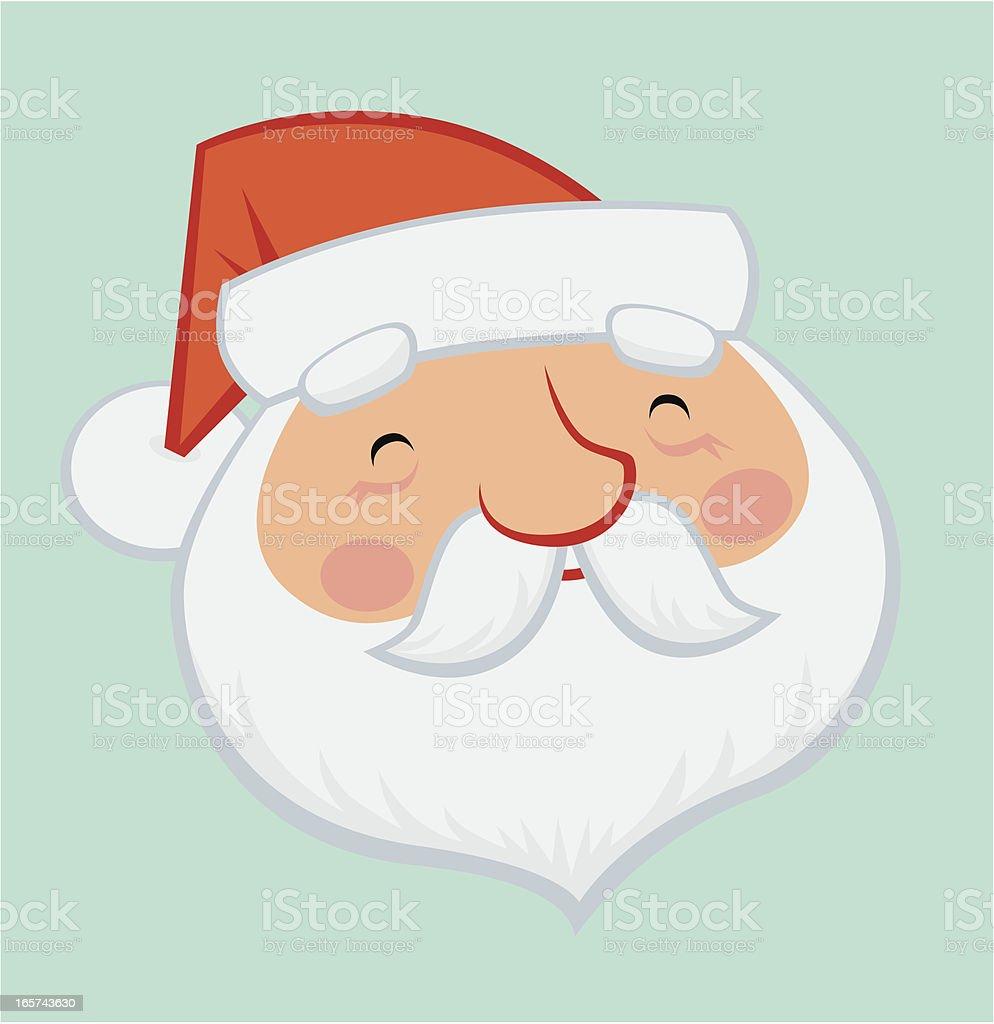 A illustration of a smiling Santa Claus royalty-free stock vector art