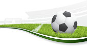 Detailed vector illustration of a soccer field. Includes an EPS8, and a hi res JPG.