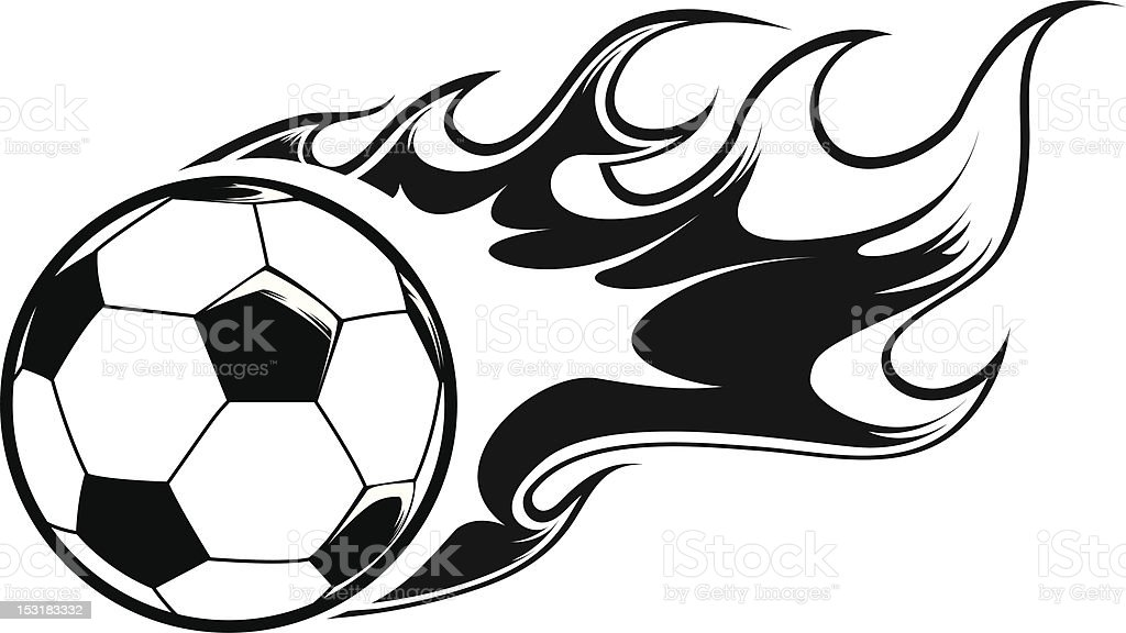 Burning Fußball Ball – Vektorgrafik