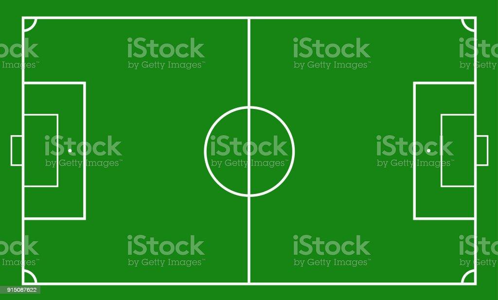 Abbildung Eines Fussballfeldes Fussballfeld Oder Fussball Feld