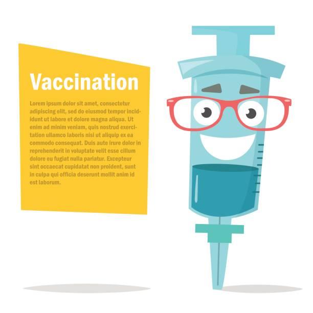 bildbanksillustrationer, clip art samt tecknat material och ikoner med illustration av en spruta. glasögon - vaccine