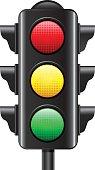 Illustration of a traffic light on white background