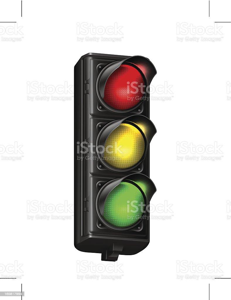 Illustration of a traffic light  vector art illustration