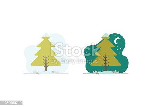 istock Illustration of a tree in winter 1030969712