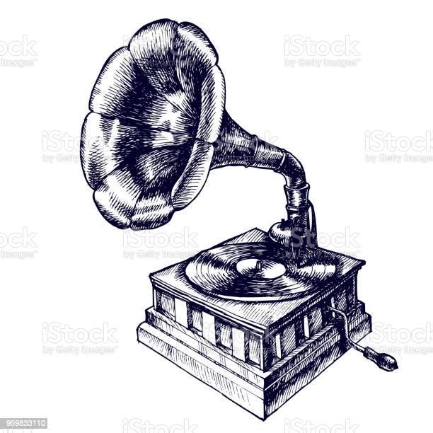 Illustration of a vintage gramophone vector id959833110?b=1&k=6&m=959833110&s=612x612&h=6vlodboz6wg9y2lvkdwnp5qsmrj1bizjhn8edszxrug=