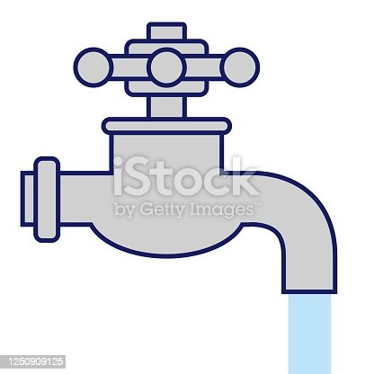Illustration of a water tap