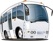 Illustration of a white coach on a white background