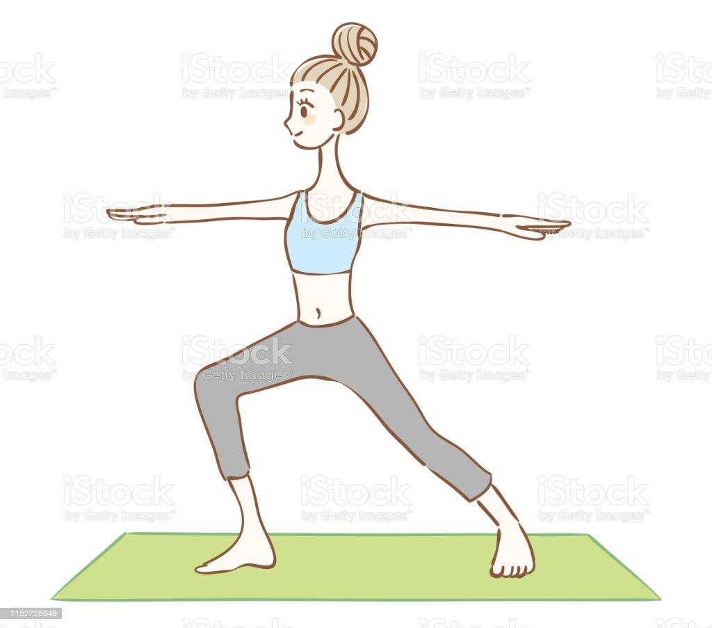 Yoga zum Abnehmen der Frau