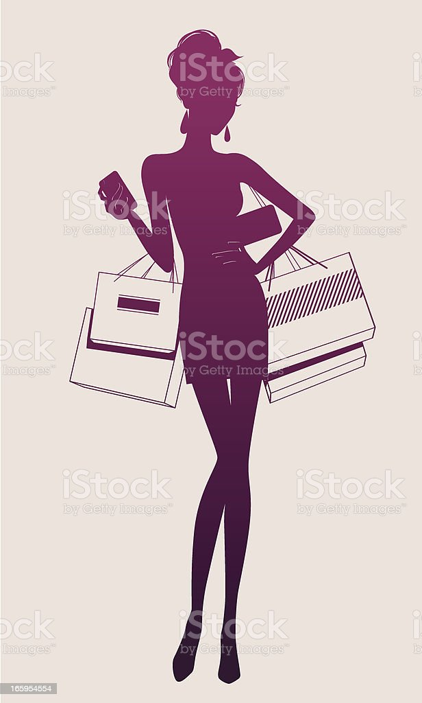 Illustration of a woman holding shopping bags royalty-free illustration of a woman holding shopping bags stock vector art & more images of adult