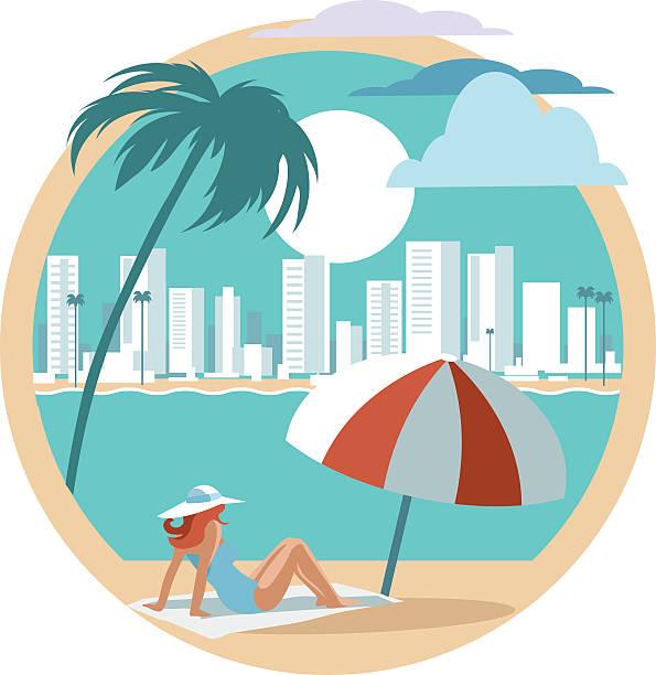 Miami Beach Illustrations, Royalty-Free Vector Graphics ...