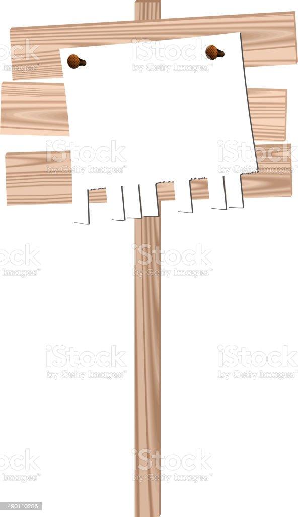 Tableau D Affichage Vitré illustration de bois panneau daffichage avec des ongles pure