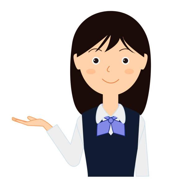 ビジネス制服を着た若い女性のイラスト。 - オフィスワーク点のイラスト素材/クリップアート素材/マンガ素材/アイコン素材