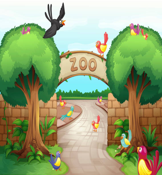Best Zoo Entrance Illustrations, Royalty-Free Vector ...