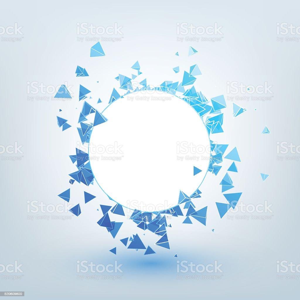 Illustration de concept abstrait fond avec des triangles. - Illustration vectorielle