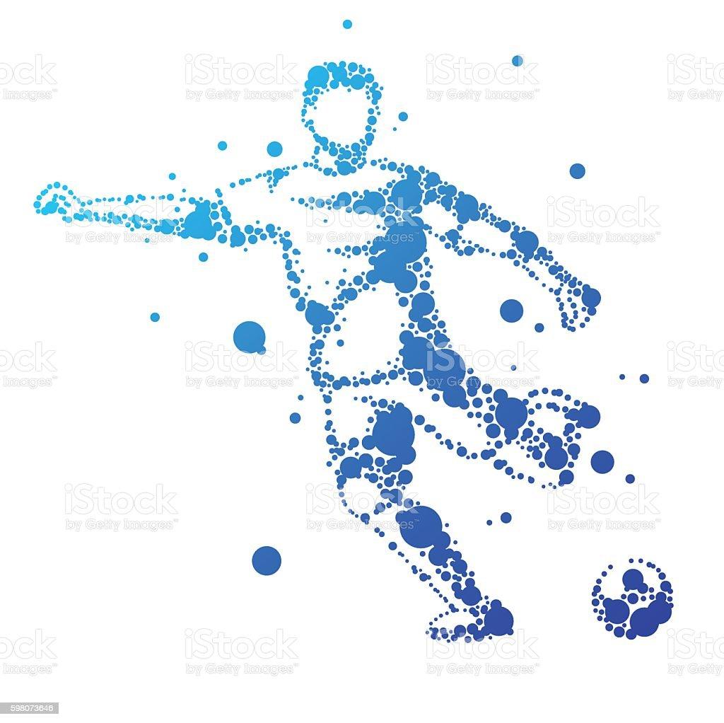 Illustration of abstract football player. vector art illustration