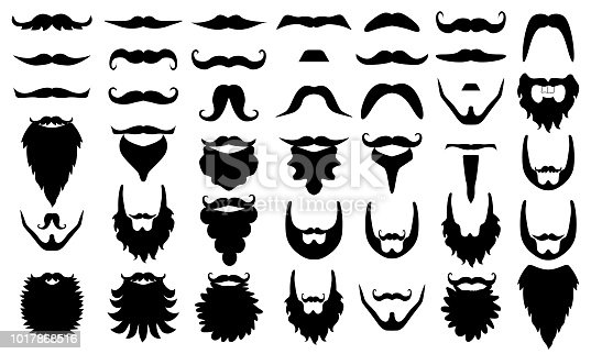 Illustration of accessory such as moustaches, photo booth props. Set.