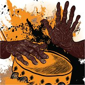 Vector illustration of an african drummer