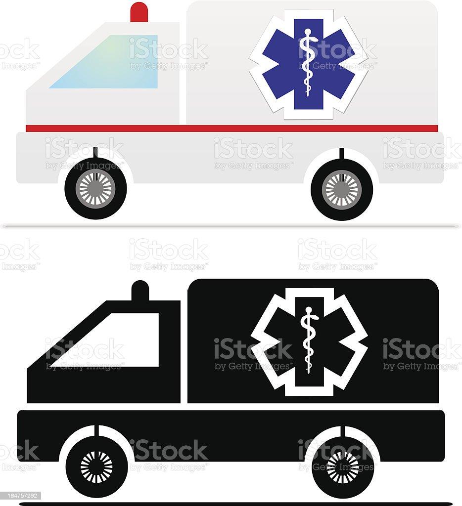 illustration of Ambulance vector vector art illustration