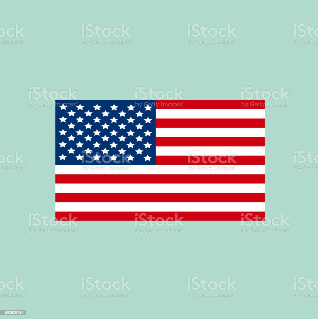 Illustration of an American Flag on a Blue Background - Royalty-free American Culture stock vector