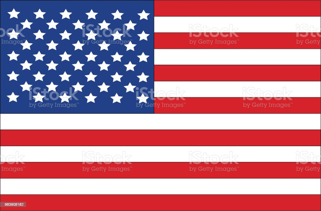 Illustration of an American Flag - Royalty-free American Culture stock vector