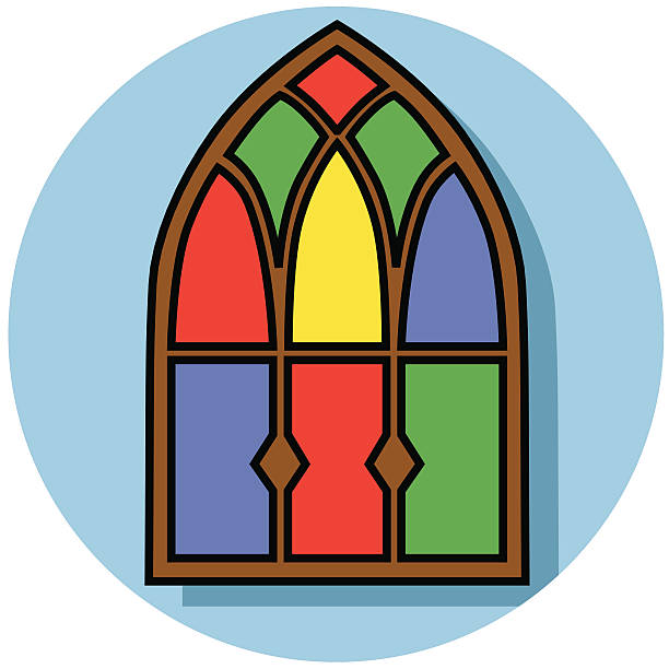 Glass Window Clip Art : Church window clip art vector images illustrations istock