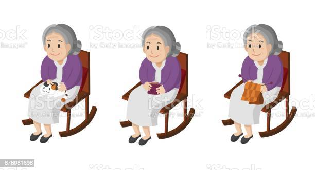 Illustration of an elderly woman sitting in her rocking chair vector id676081696?b=1&k=6&m=676081696&s=612x612&h=ckeq6hdooo94j9h9pcomqfjxgowlxjokdgzwsvenvuq=