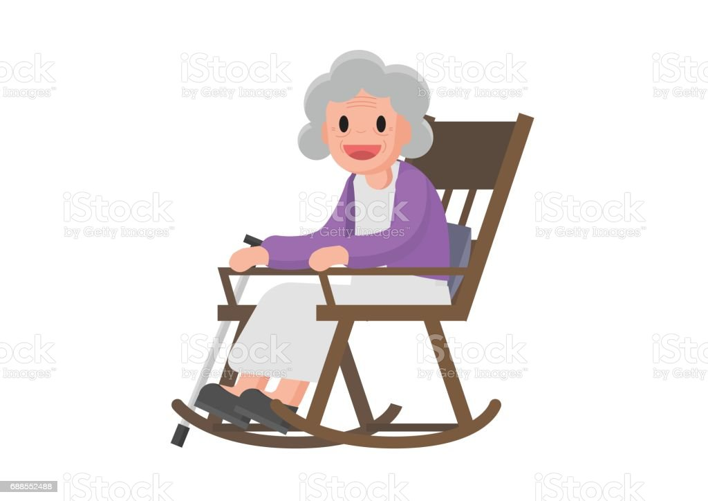 Beispiel f r eine ltere frau sitzt in ihrem schaukelstuhl for Schaukelstuhl alt