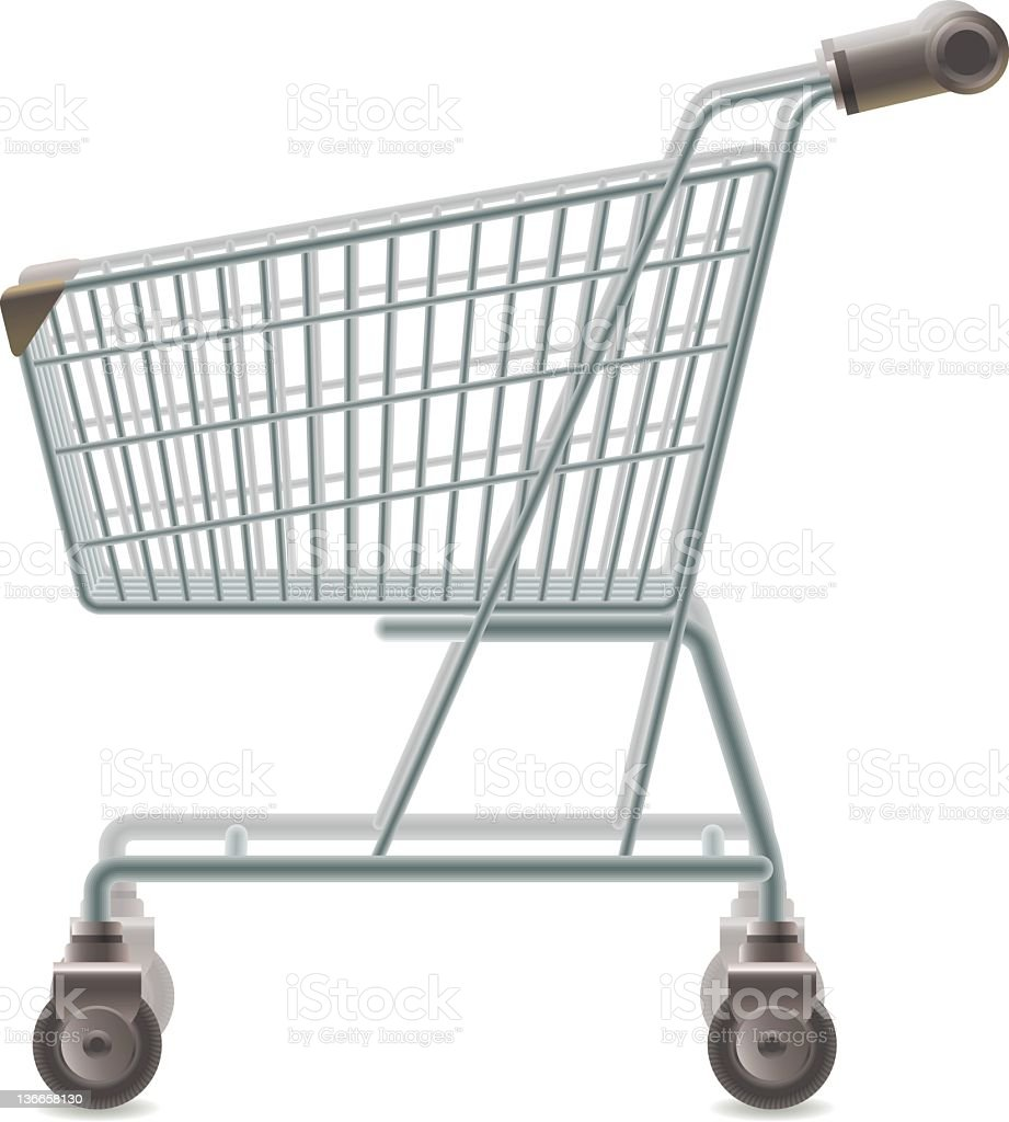Illustration of an empty shopping cart royalty-free stock vector art