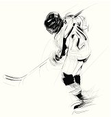 illustration of an ice hockey player