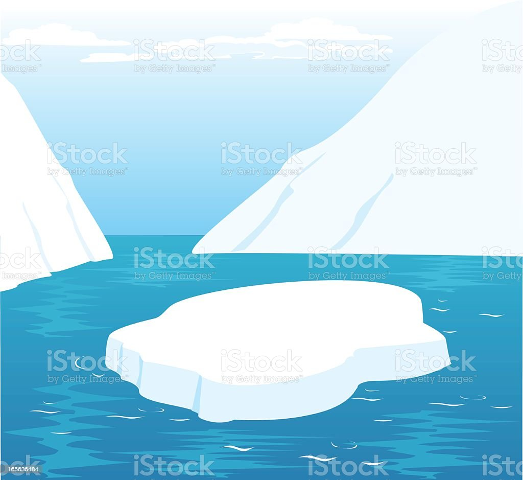 Illustration of an icecap in the North Pole vector art illustration