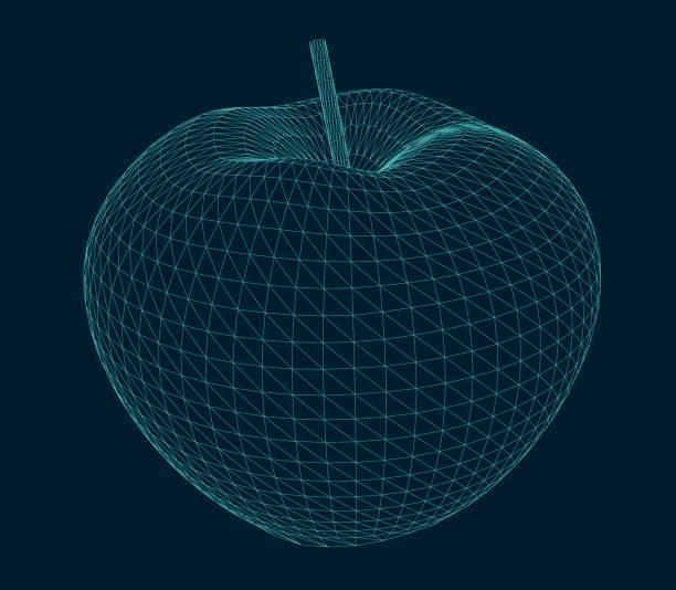 illustration of an isolated apple vector art illustration