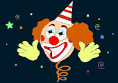 Illustration of April Fool's Day Clown
