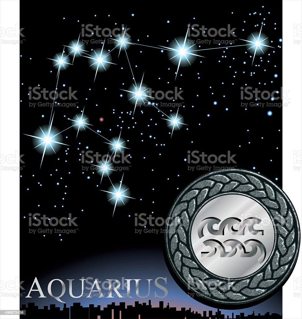 Illustration of aquarius zodiac sign water bringer zodiac poster illustration of aquarius zodiac sign water bringer zodiac poster royalty free illustration of urtaz Images
