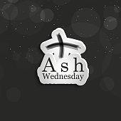 illustration of Ash Wednesday background
