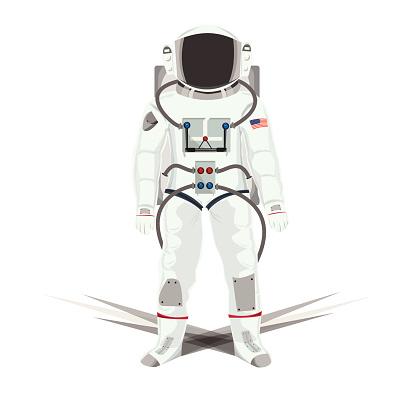 Illustration of Astronauts isolated white