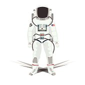 Illustration of Astronauts isolated white