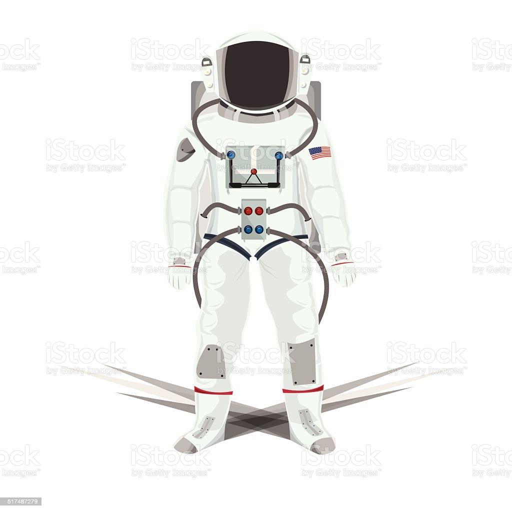 Illustration of Astronauts isolated white vector art illustration
