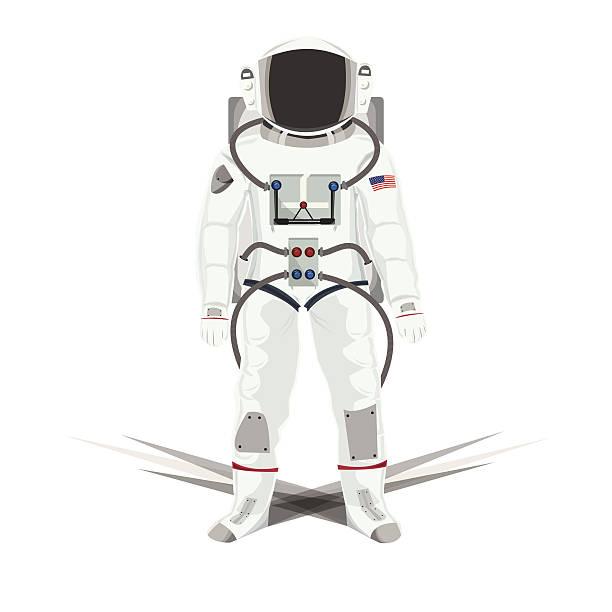 illustration von astronauten isoliert weiß - pompeii stock-grafiken, -clipart, -cartoons und -symbole